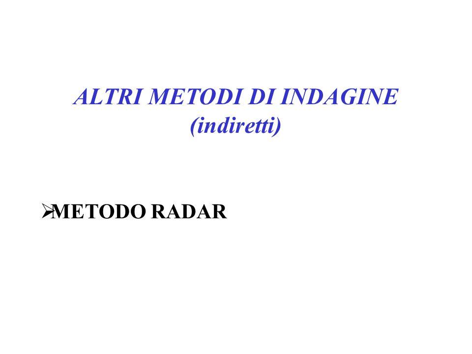 ALTRI METODI DI INDAGINE (indiretti)