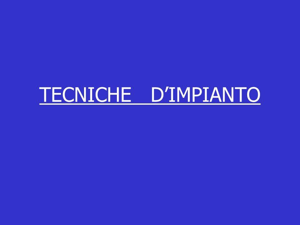 TECNICHE D'IMPIANTO