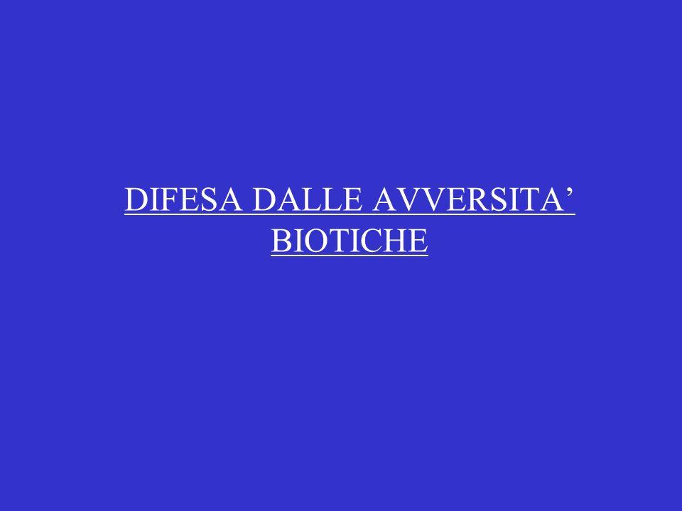 DIFESA DALLE AVVERSITA' BIOTICHE