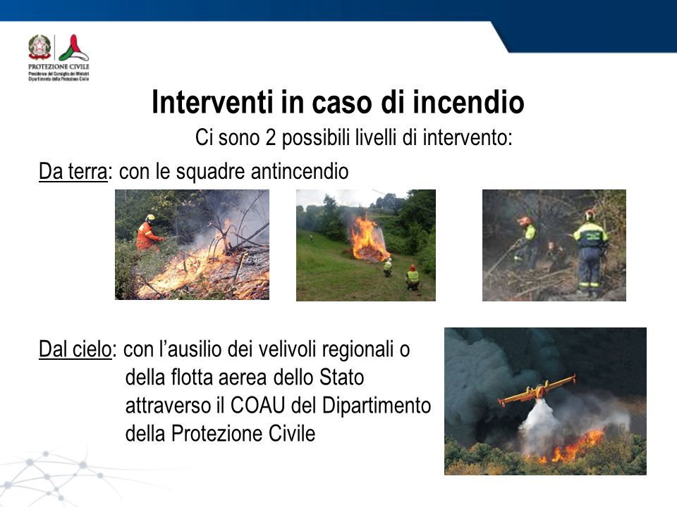 Interventi in caso di incendio