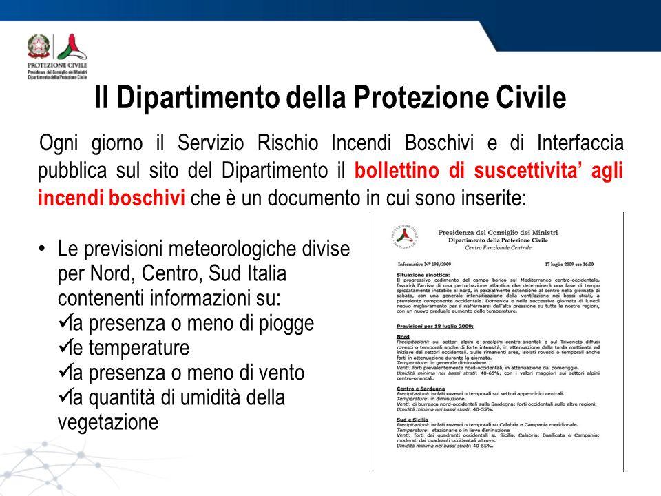 Il Dipartimento della Protezione Civile