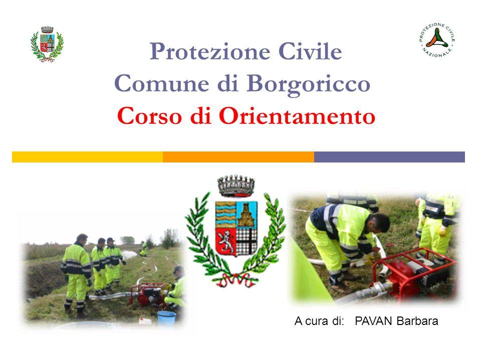 Protezione Civile Comune di Borgoricco Corso di Orientamento