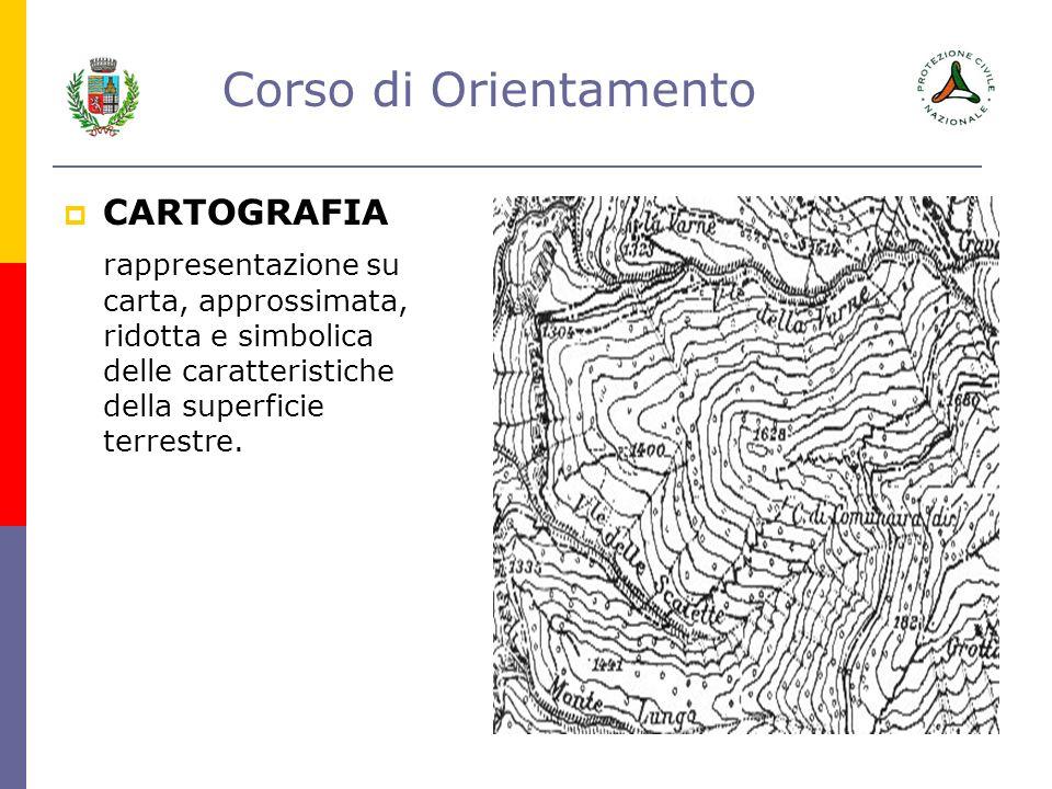 CARTOGRAFIA rappresentazione su carta, approssimata, ridotta e simbolica delle caratteristiche della superficie terrestre.