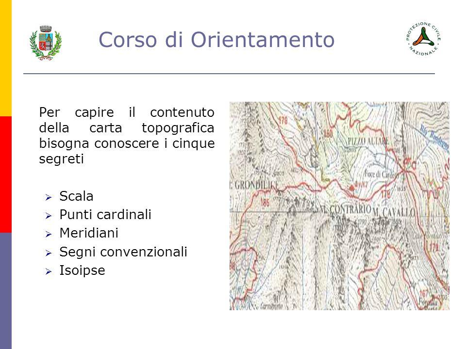 Per capire il contenuto della carta topografica bisogna conoscere i cinque segreti
