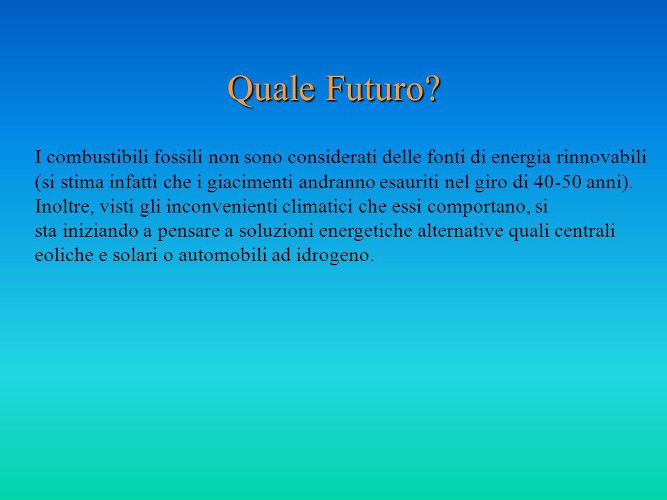 Quale Futuro I combustibili fossili non sono considerati delle fonti di energia rinnovabili.