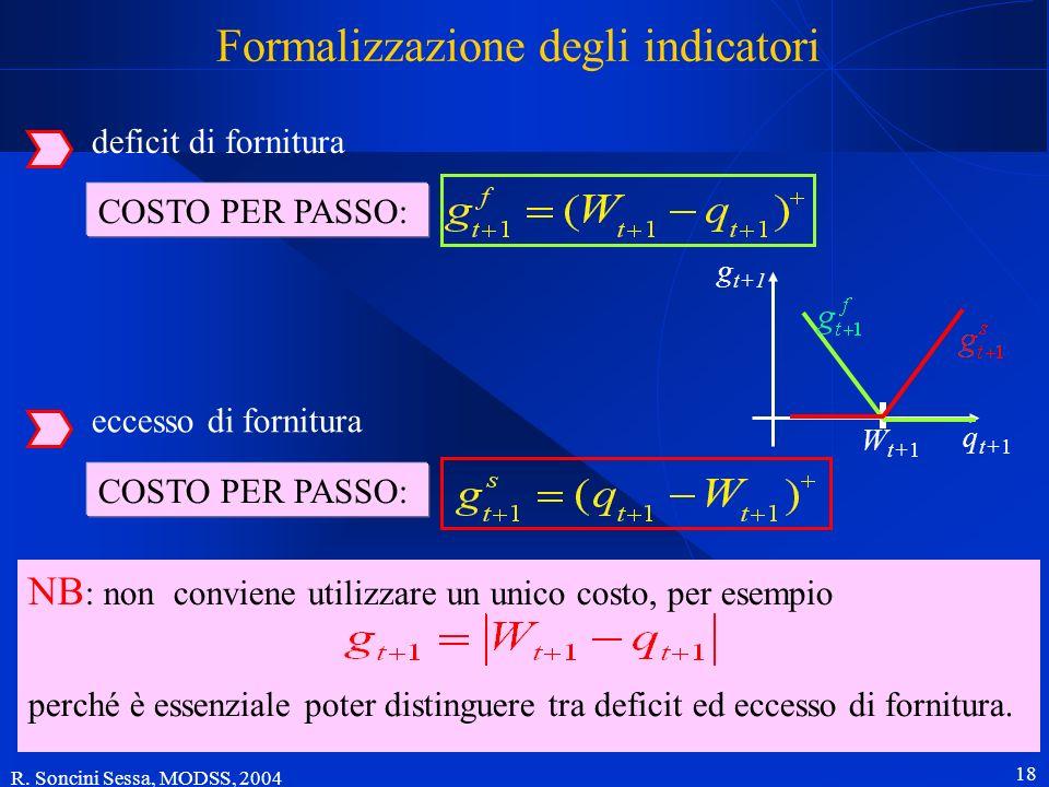 Formalizzazione degli indicatori