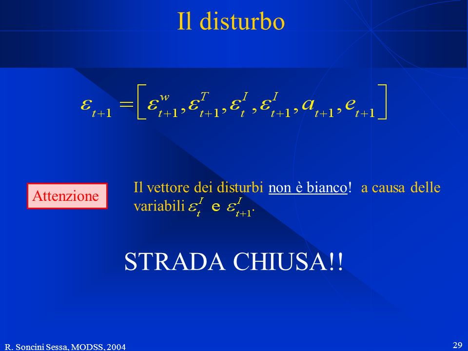 Il disturbo STRADA CHIUSA!!