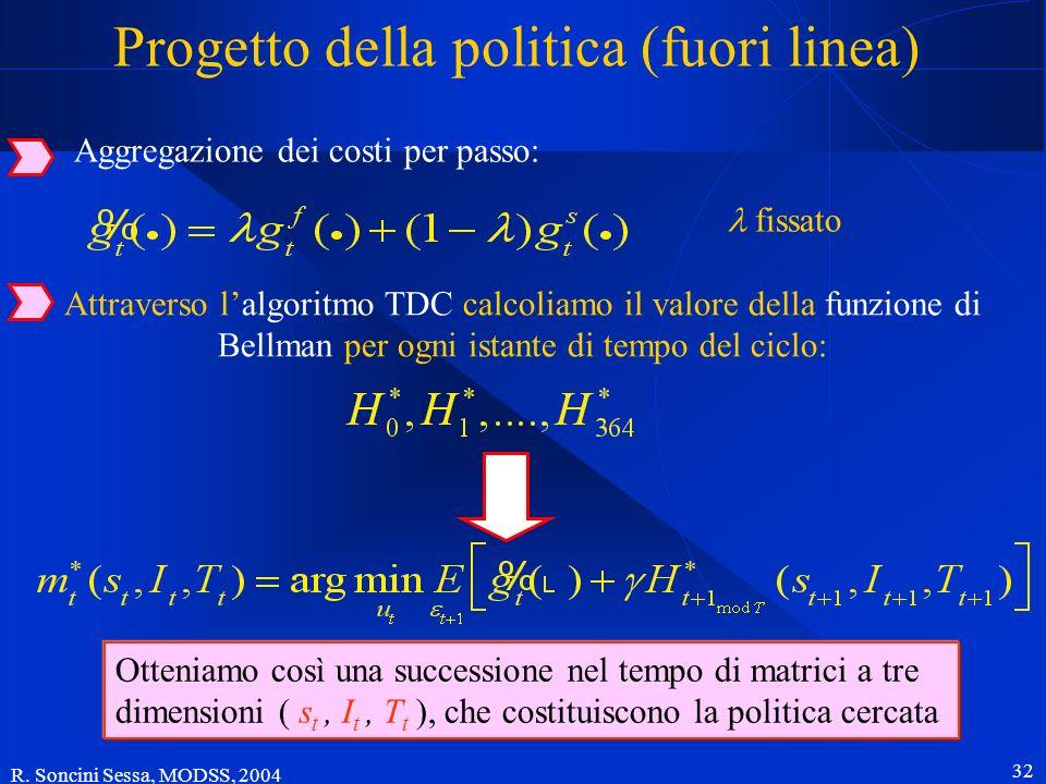 Progetto della politica (fuori linea)