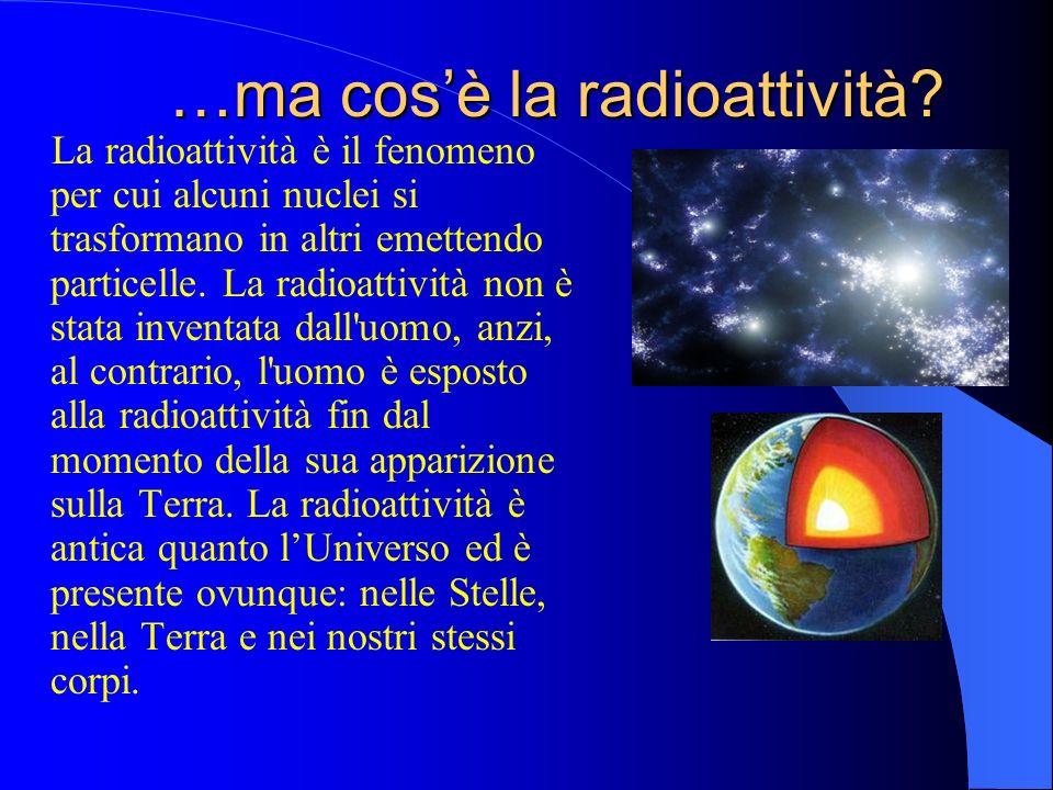 …ma cos'è la radioattività