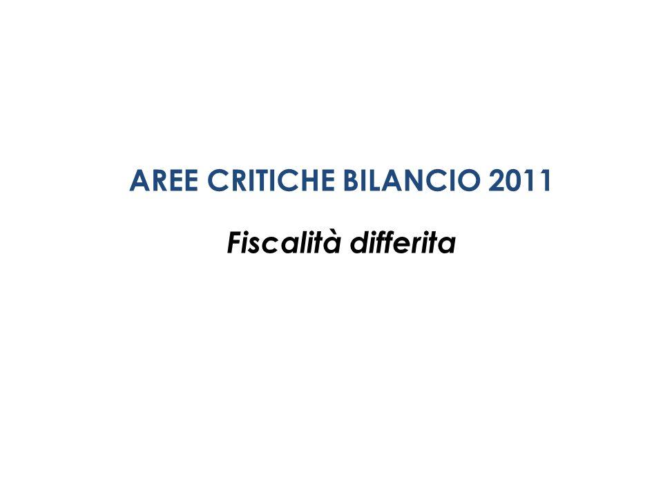 AREE CRITICHE BILANCIO 2011