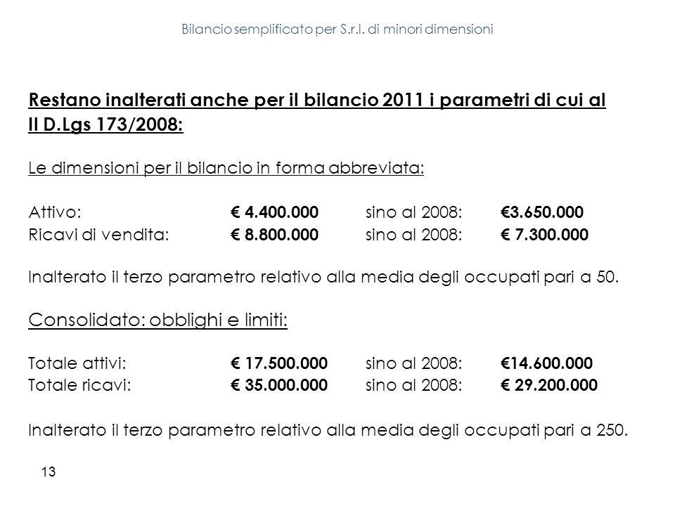 Bilancio semplificato per S.r.l. di minori dimensioni