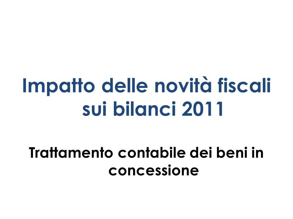 Impatto delle novità fiscali sui bilanci 2011