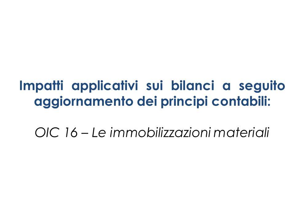 OIC 16 – Le immobilizzazioni materiali