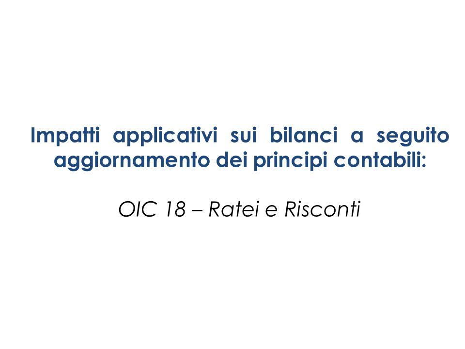Impatti applicativi sui bilanci a seguito aggiornamento dei principi contabili: