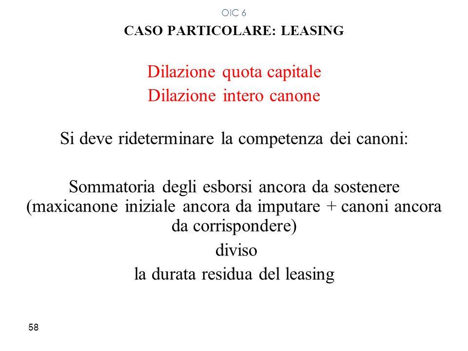 CASO PARTICOLARE: LEASING