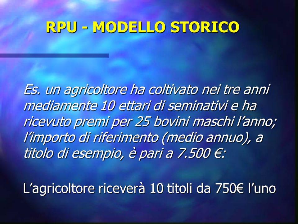 RPU - MODELLO STORICO