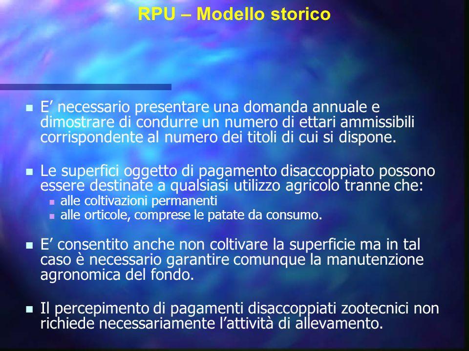 RPU – Modello storico