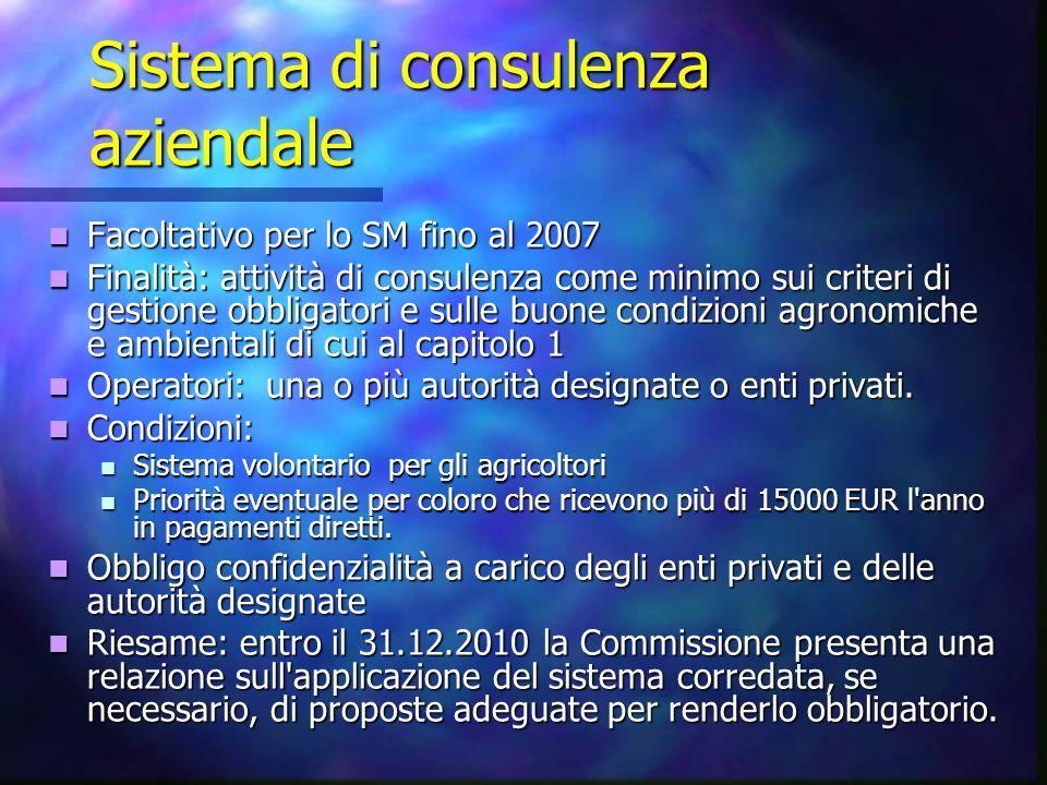 Sistema di consulenza aziendale