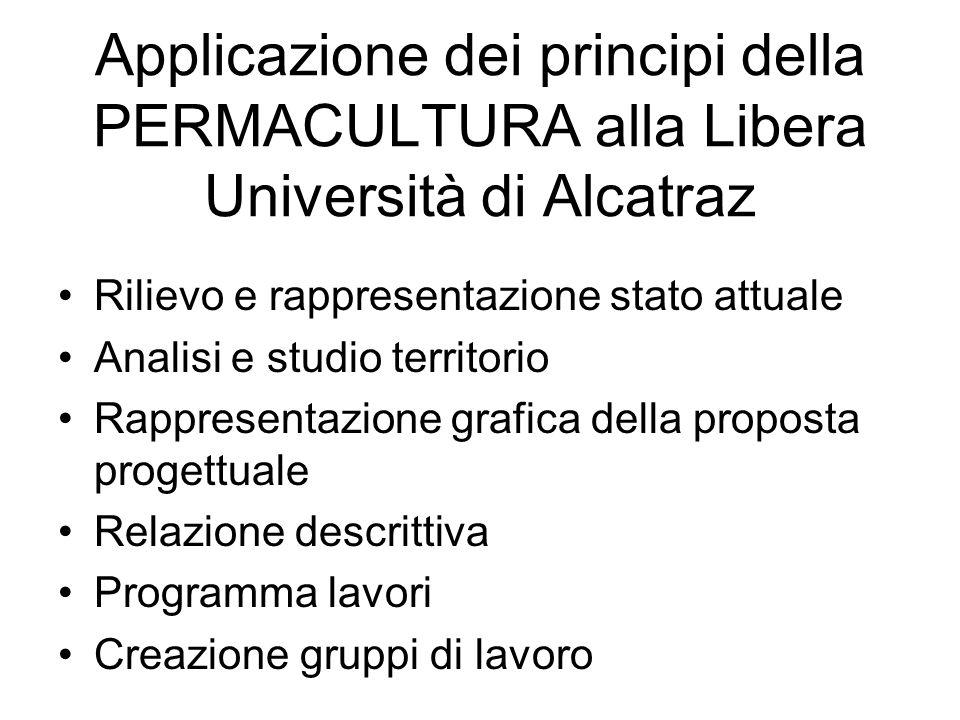 Applicazione dei principi della PERMACULTURA alla Libera Università di Alcatraz