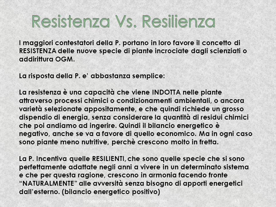 Resistenza Vs. Resilienza