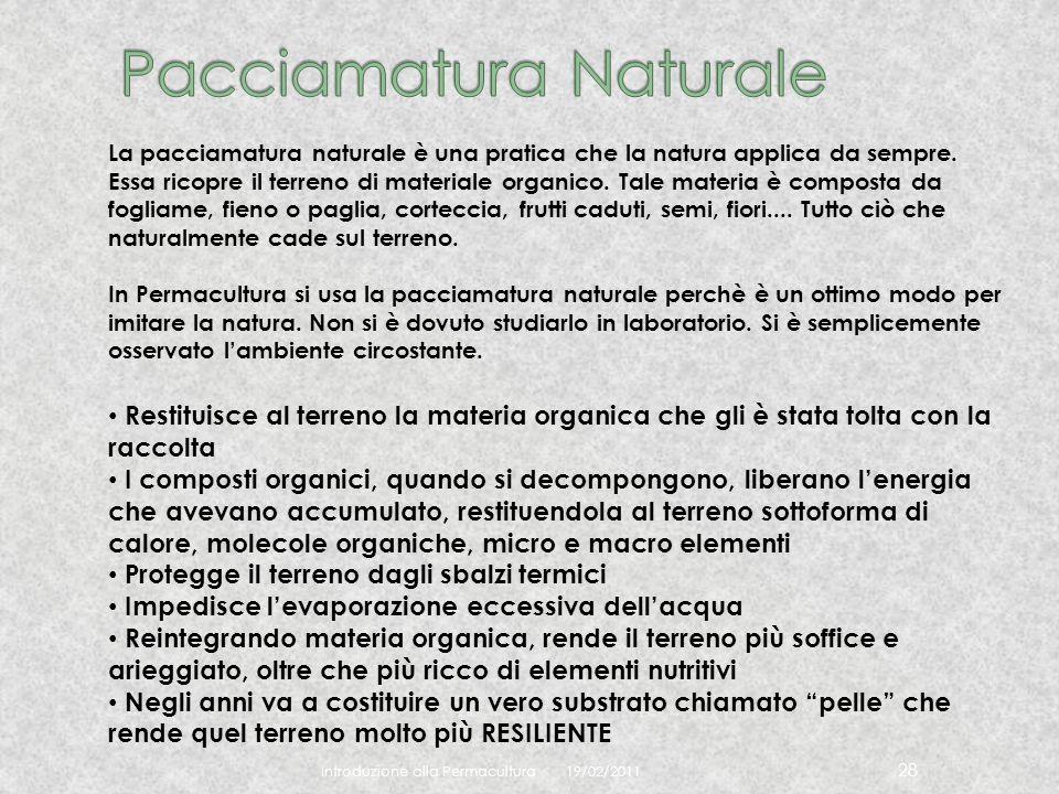 Pacciamatura Naturale