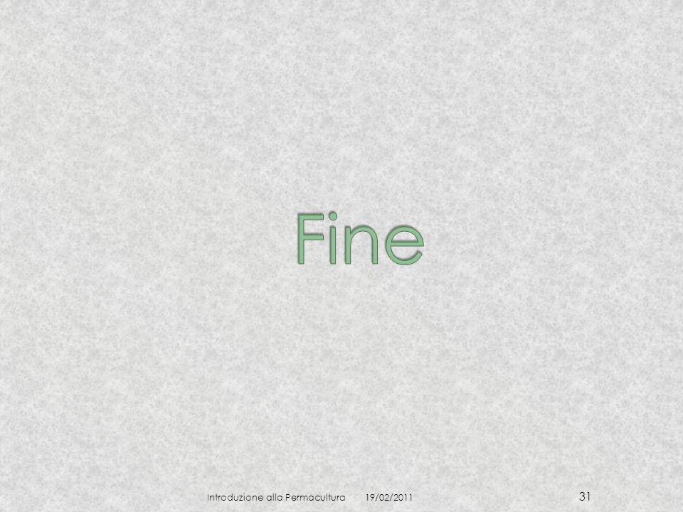 Fine Introduzione alla Permacultura 19/02/2011