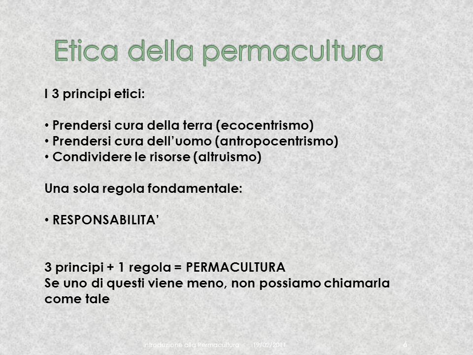 Etica della permacultura