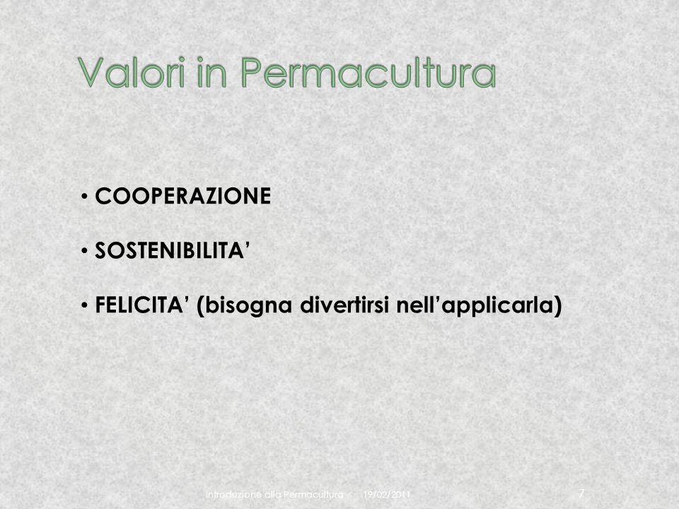 Valori in Permacultura