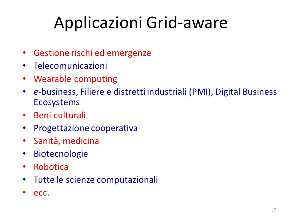 Applicazioni Grid-aware