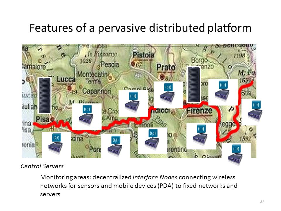 Features of a pervasive distributed platform
