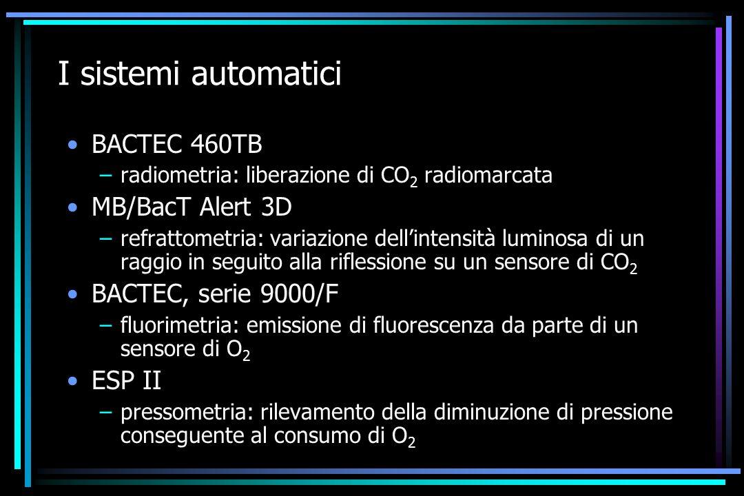 I sistemi automatici BACTEC 460TB MB/BacT Alert 3D