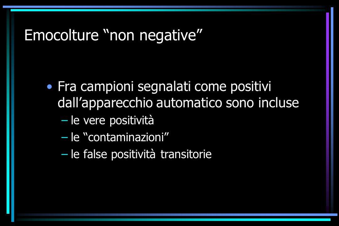 Emocolture non negative