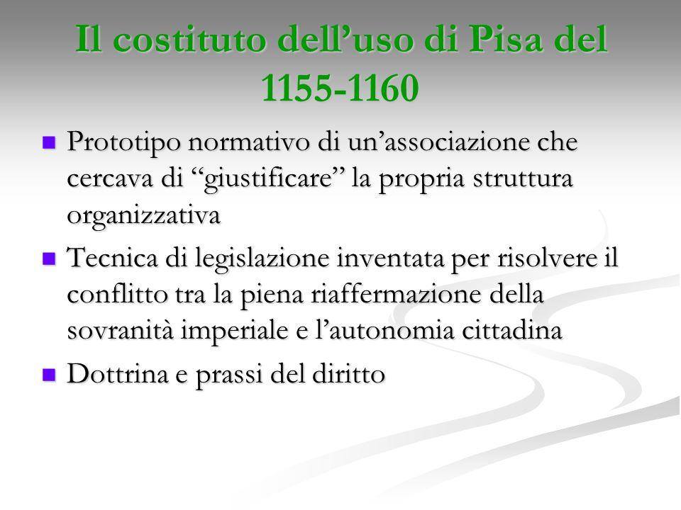 Il costituto dell'uso di Pisa del 1155-1160