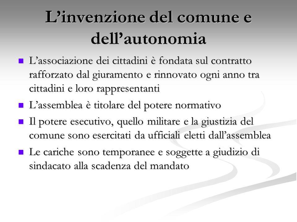 L'invenzione del comune e dell'autonomia