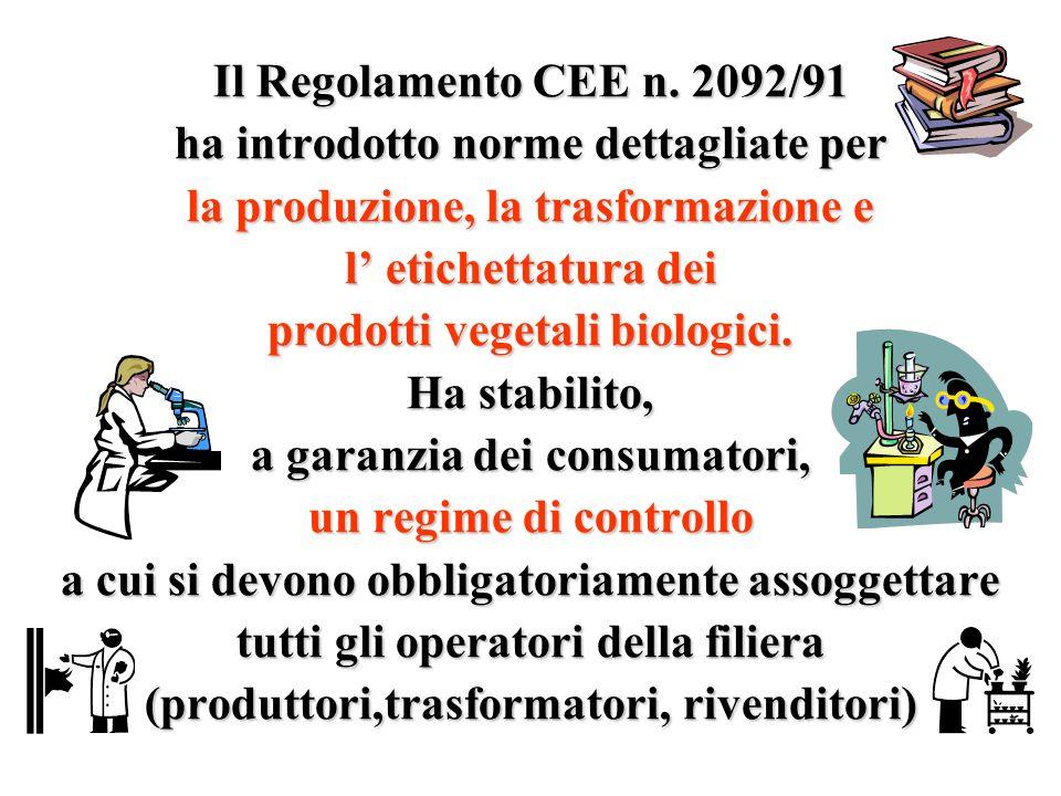 ha introdotto norme dettagliate per la produzione, la trasformazione e