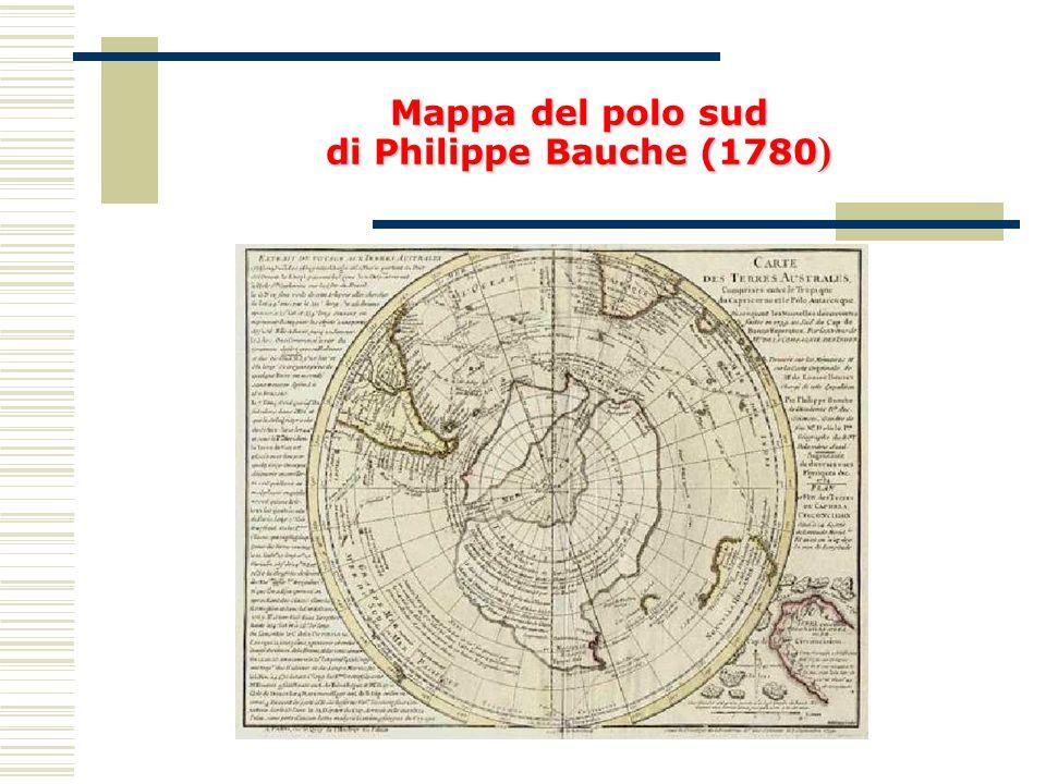 Mappa del polo sud di Philippe Bauche (1780)