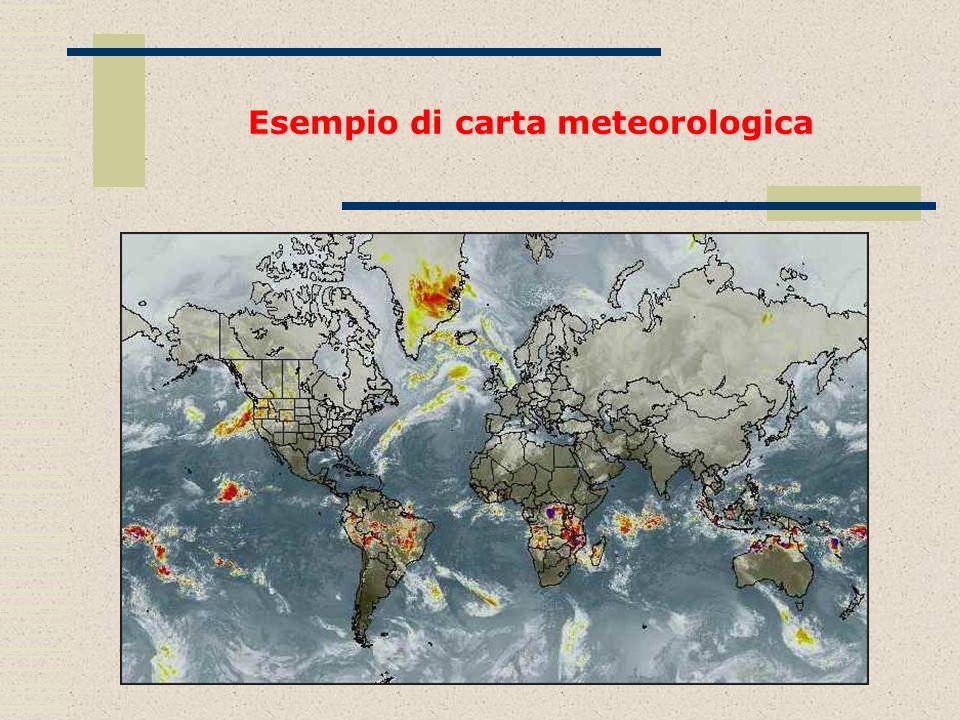 Esempio di carta meteorologica