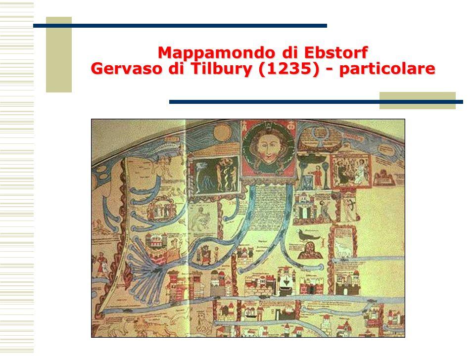 Mappamondo di Ebstorf Gervaso di Tilbury (1235) - particolare