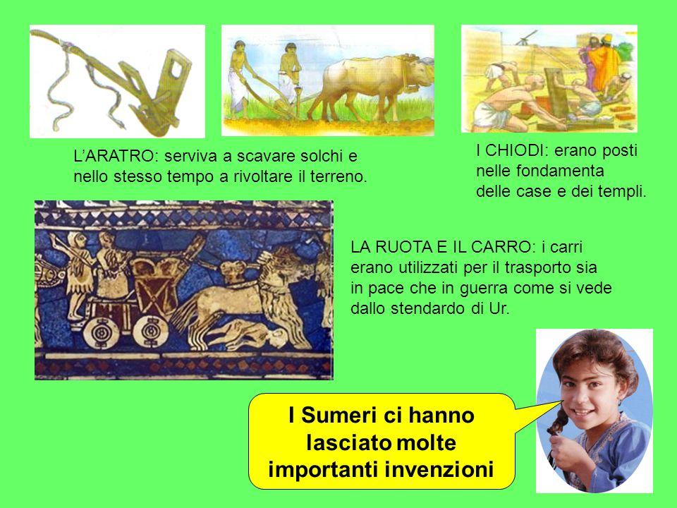I Sumeri ci hanno lasciato molte importanti invenzioni