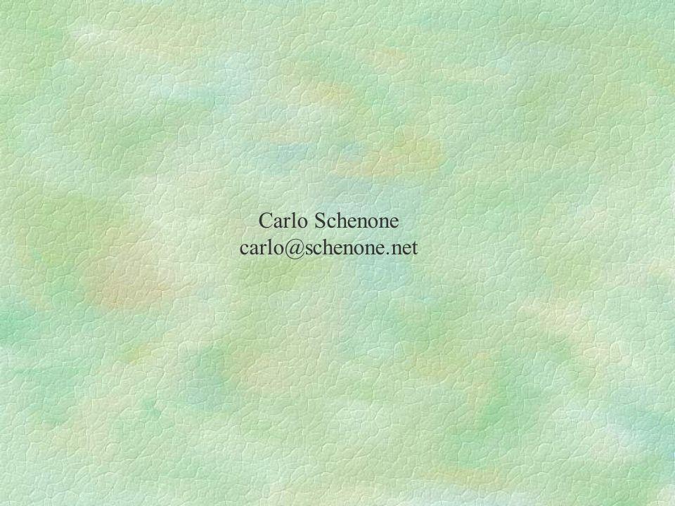 Carlo Schenone carlo@schenone.net
