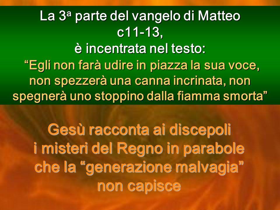 La 3a parte del vangelo di Matteo c11-13,