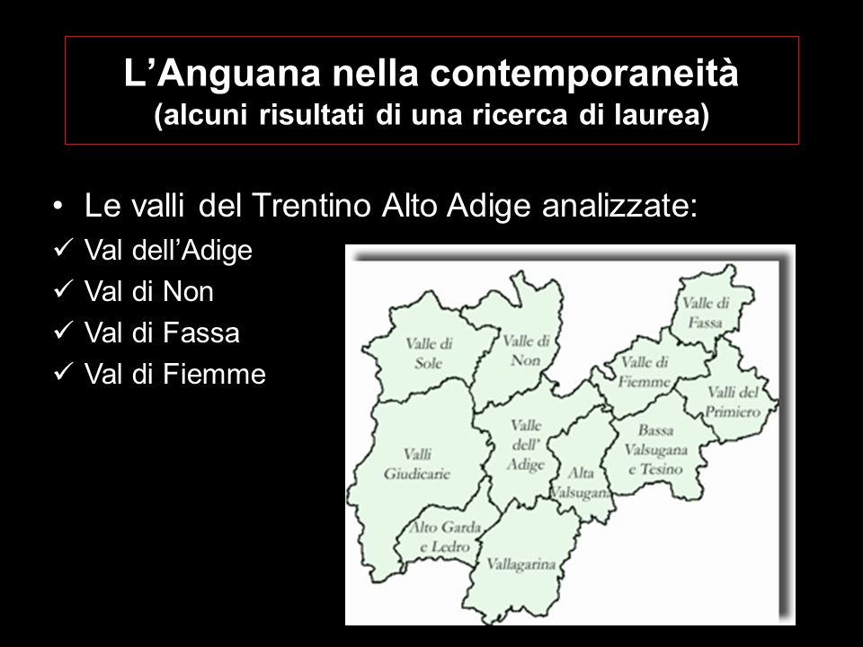 L'Anguana nella contemporaneità (alcuni risultati di una ricerca di laurea)