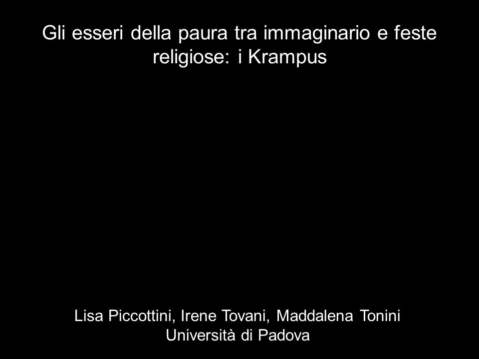 Gli esseri della paura tra immaginario e feste religiose: i Krampus