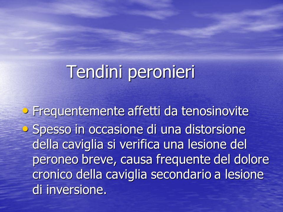 Tendini peronieri Frequentemente affetti da tenosinovite