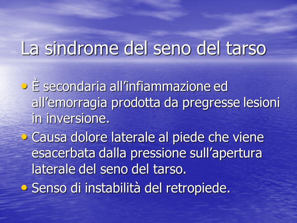 La sindrome del seno del tarso