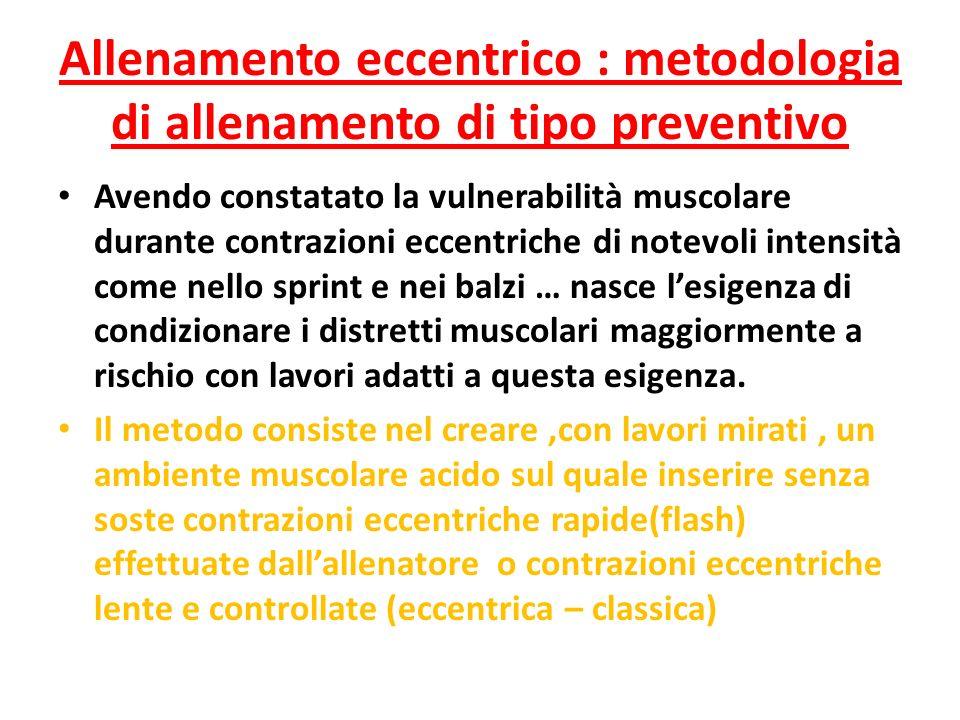 Allenamento eccentrico : metodologia di allenamento di tipo preventivo