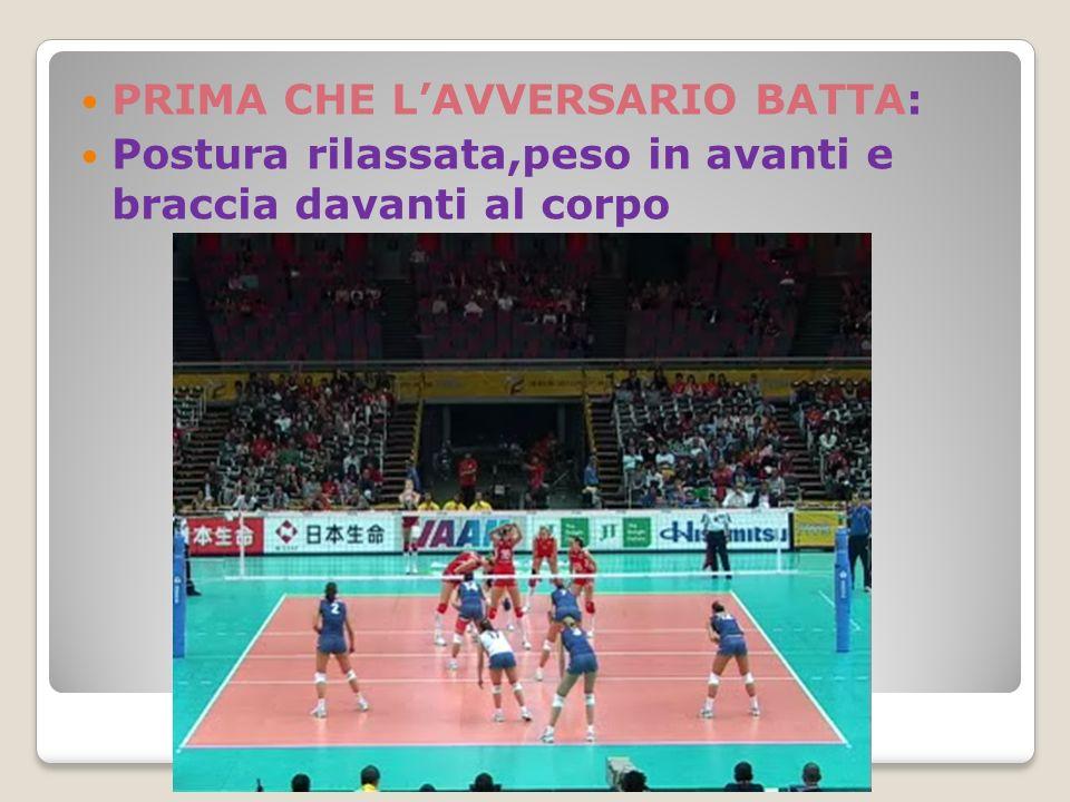 PRIMA CHE L'AVVERSARIO BATTA: