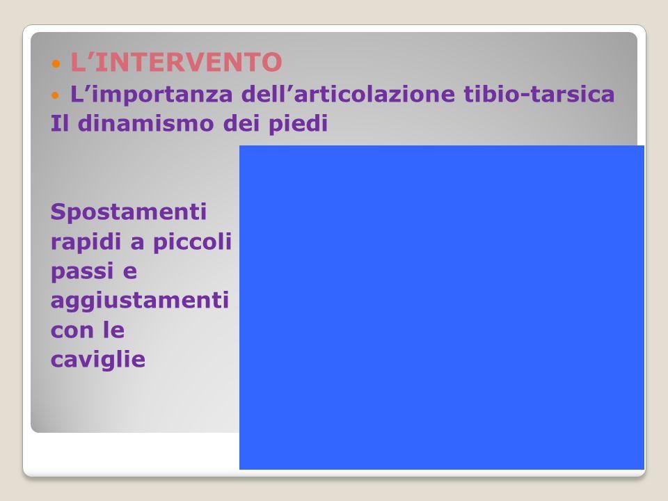 L'INTERVENTO L'importanza dell'articolazione tibio-tarsica