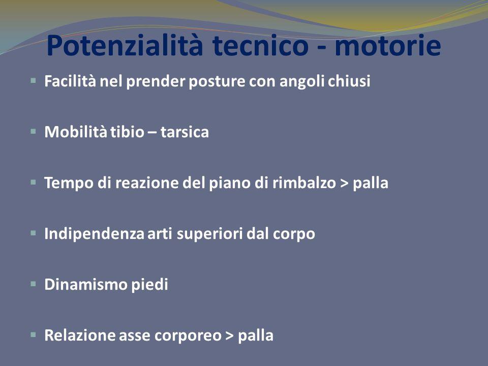 Potenzialità tecnico - motorie