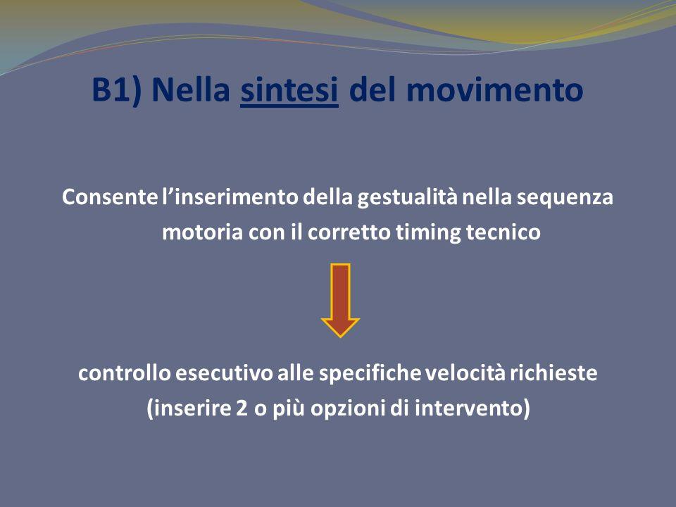 B1) Nella sintesi del movimento